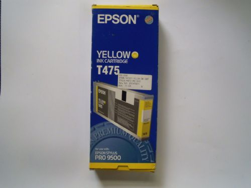 Epson T475 yellow ink cartridge Epson Stylus Pro 9500